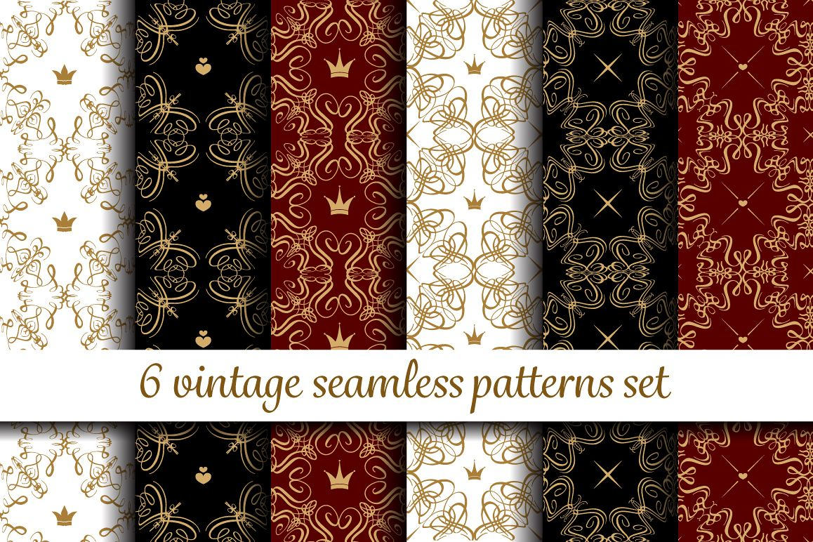Vintage patterns set example image 1