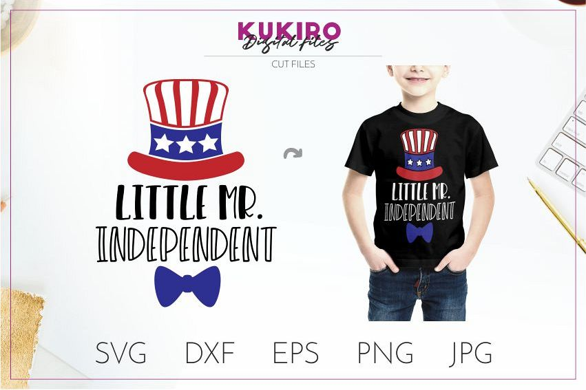 Little Mister Mr. Independent SVG - 4th Of July boy shirt example image 1