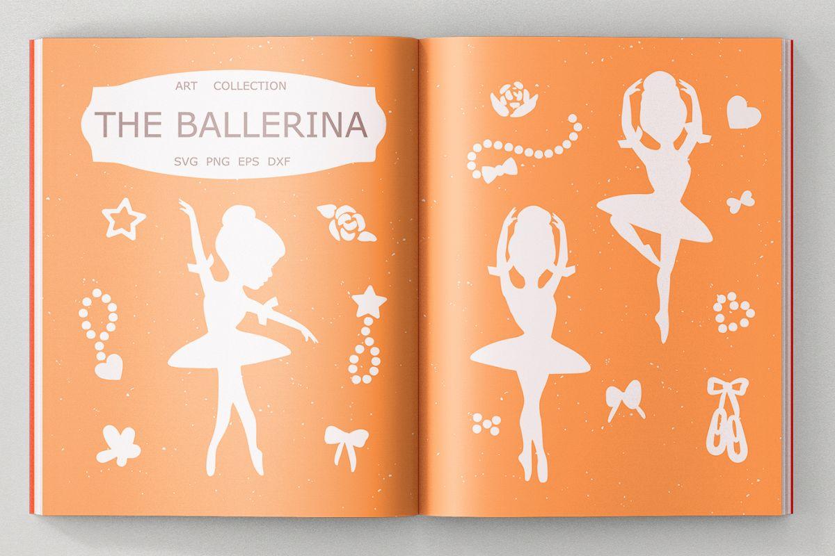Ballerina Bundle SVG DXF EPS PNG example image 1