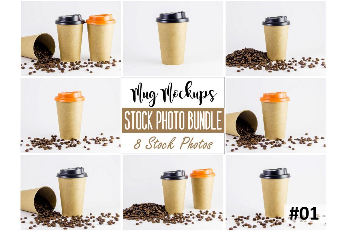 Coffee cup mockup bundle #1, paper coffee cup, mockup bundle example image 1