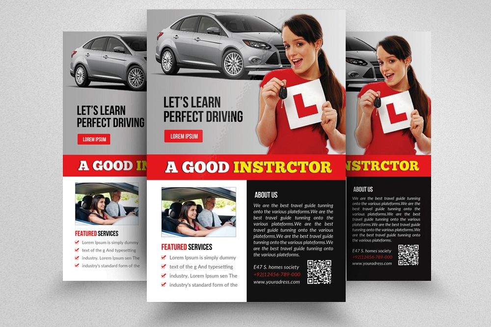 Driving School Flyer Template example image 1