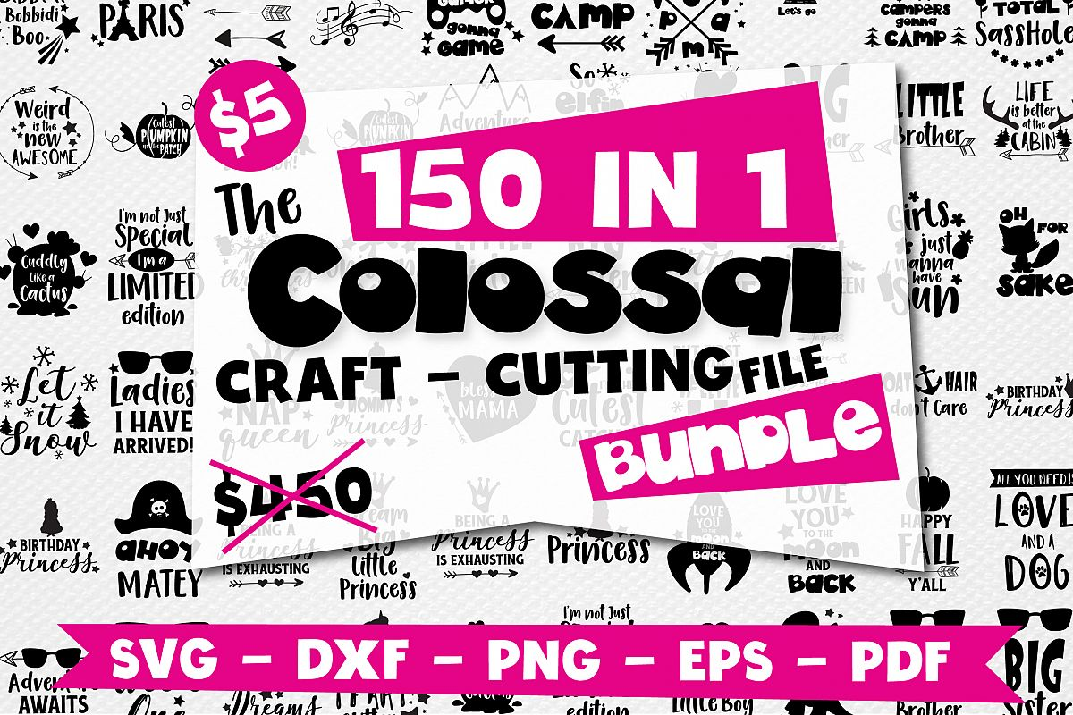 Craft MEGA BUNDLE, 150 in 1, cutting file svg, dxf, png, eps example image 1