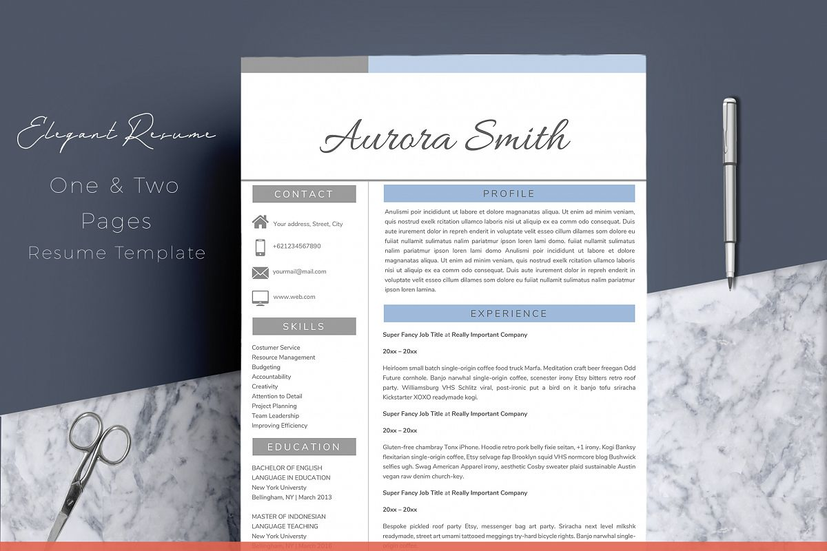 Resume Template Word CV example image 1