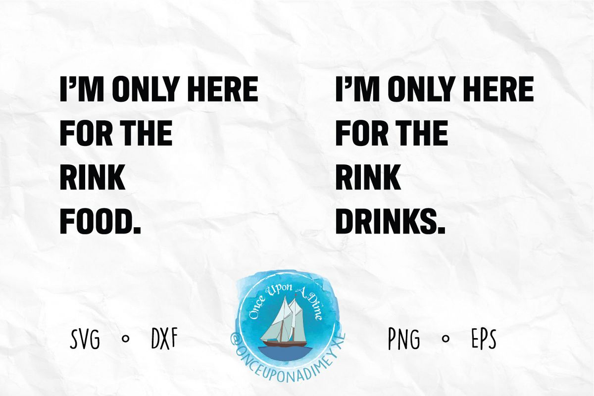 Just Here For The Rink Drinks/Food Bundle example image 1