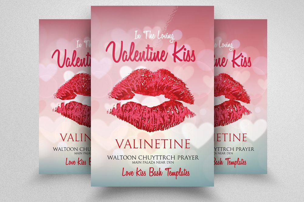 Valentine Day Flyer Template example image 1