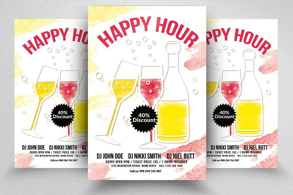 Happy Hour Flyer Template 05 Example Image 1