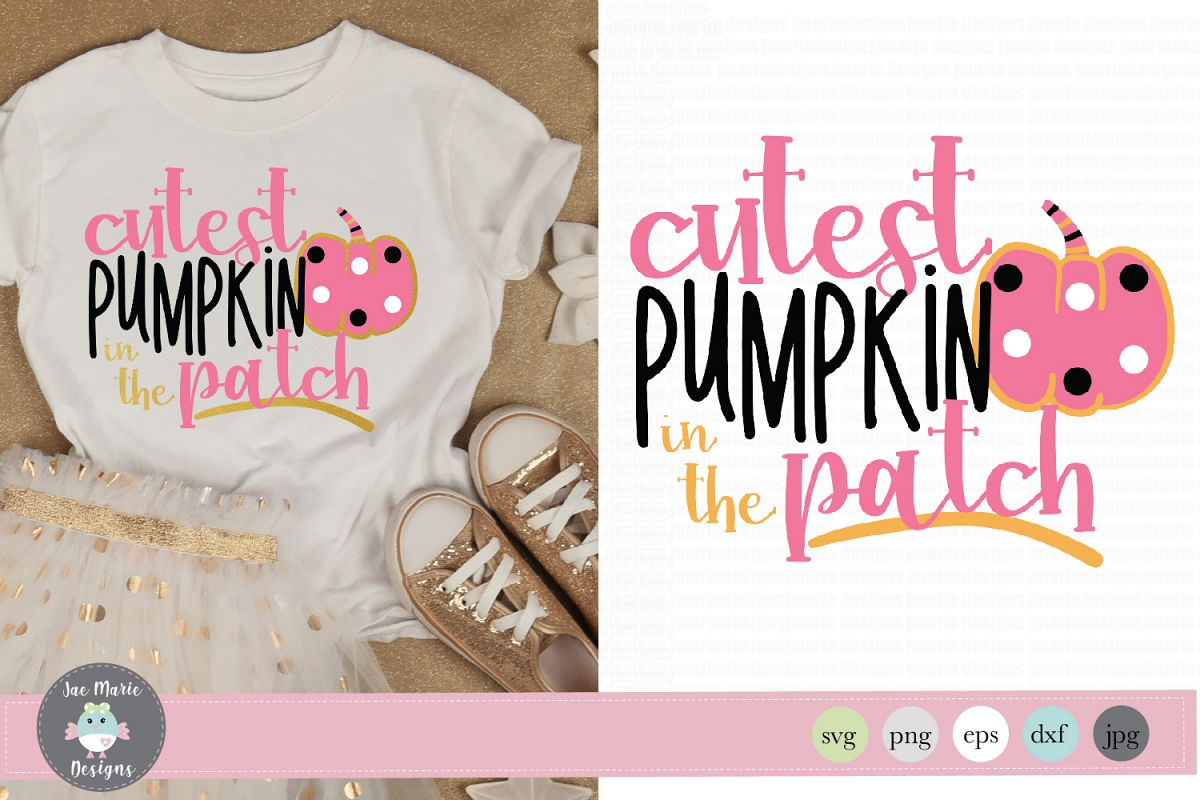 Cutest Pumpkin in the Patch svg, fall svg for kids example image 1