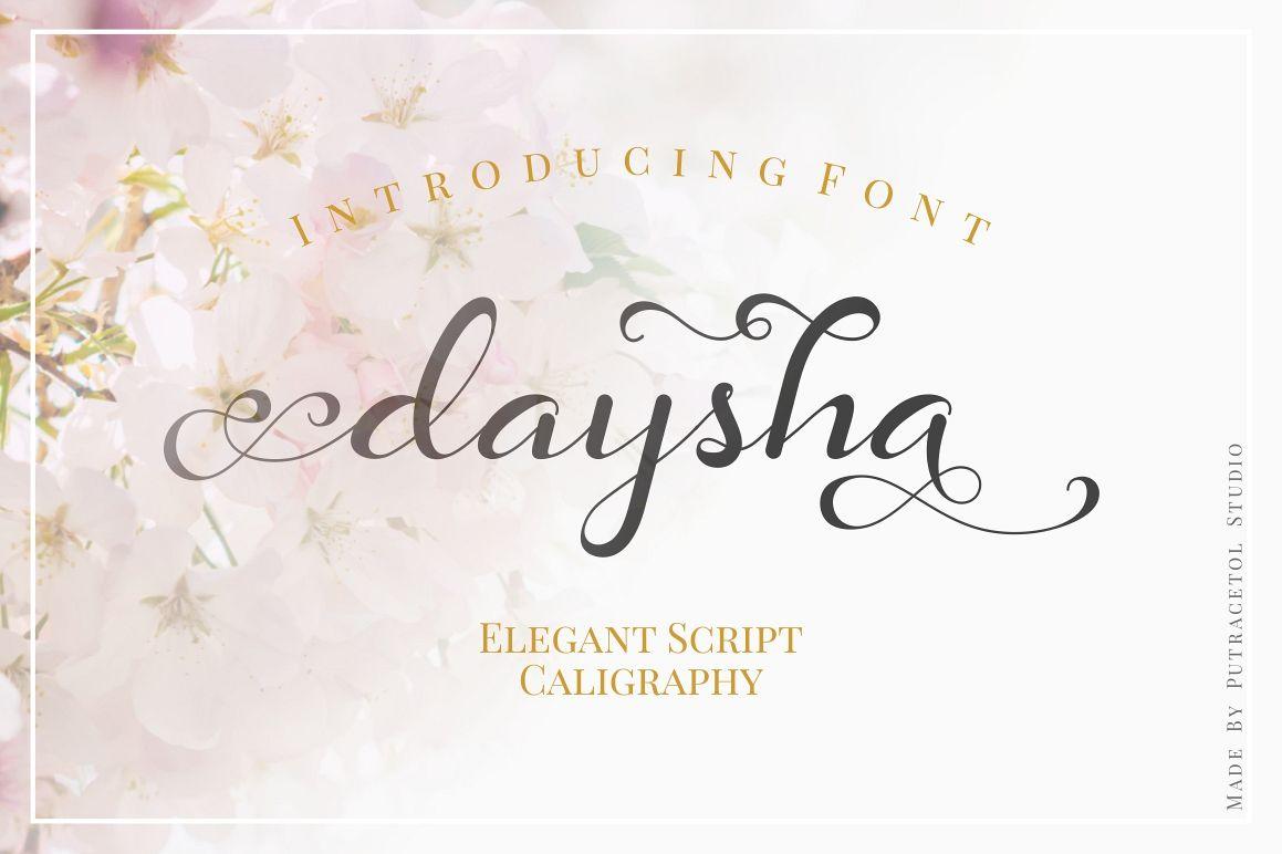 Daysha - Wedding Font example image 1