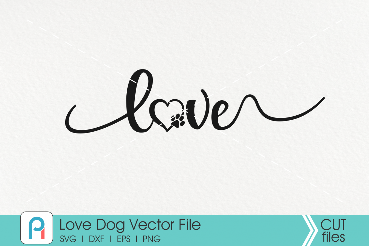 Paw Svg, Dog Svg, Love Svg, Love Paw Svg, Dog Lover Svg, Paw example image 1