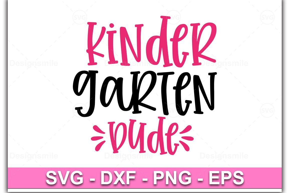 Kindergarten Dude SVG, Kinder Dude SVG, Kindergarten SVG example image 1