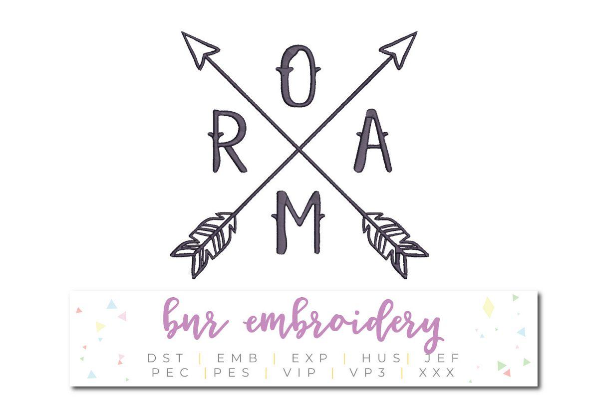 Roam Machine Embroidery Design example image 1