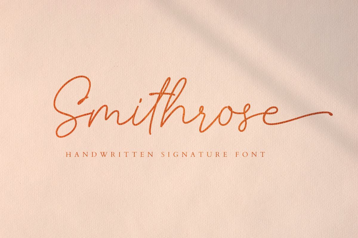 Smithrose - Signature Typeface example image 1