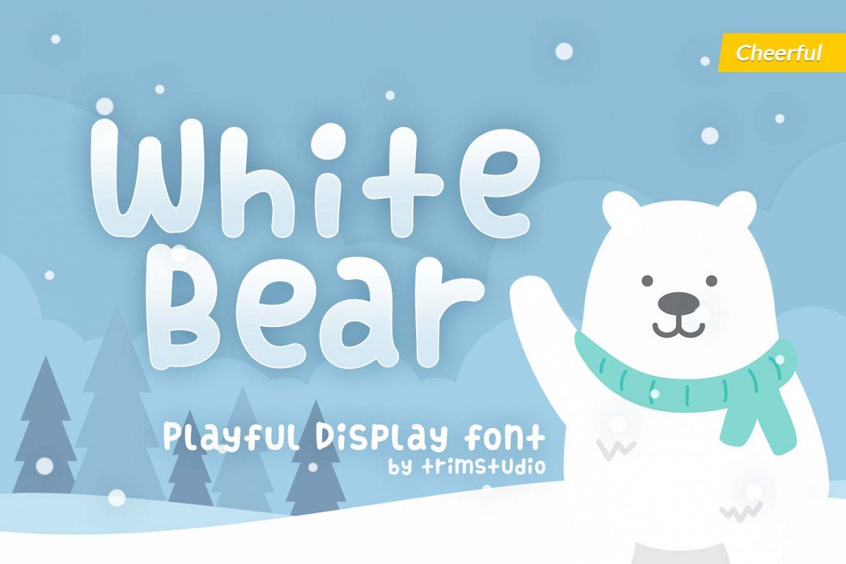 White Bear - Bold Cheerful Font example image 1