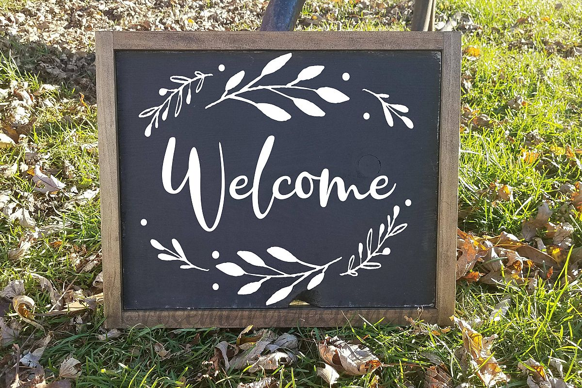 Welcome Wreath SVG example image 1