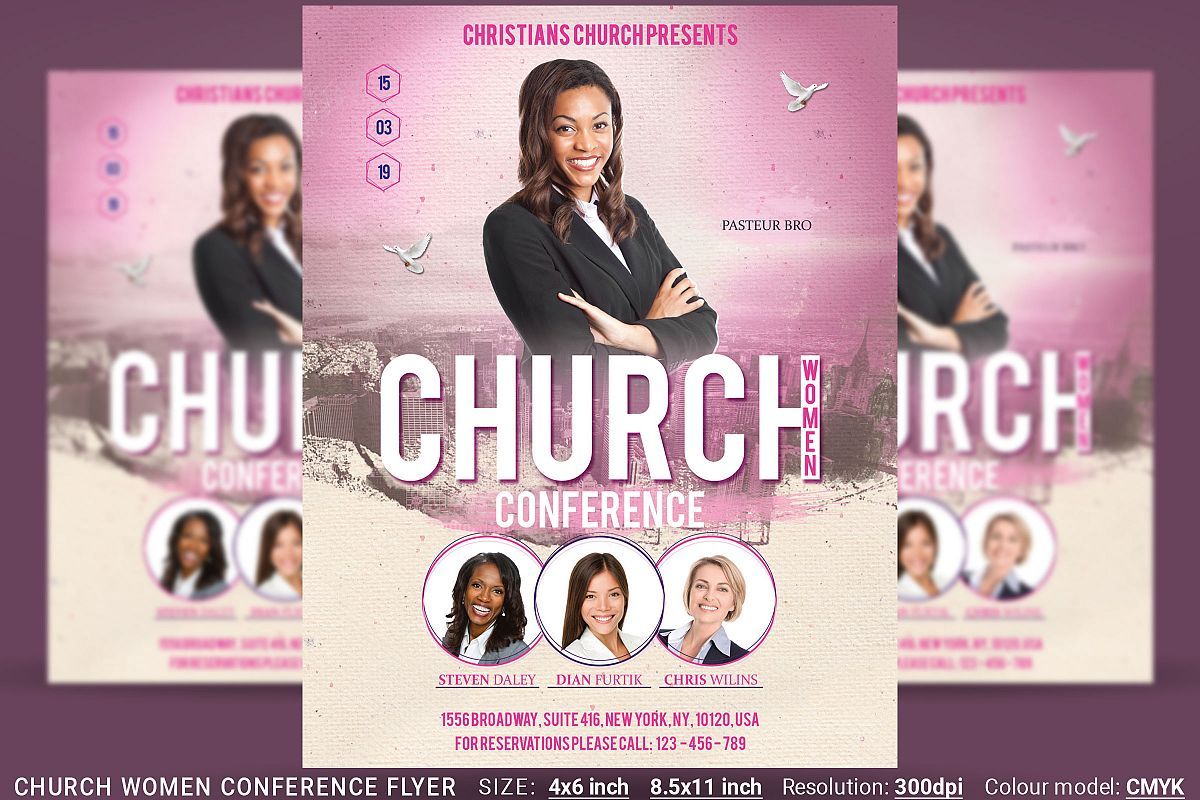 Church Women Conference Flyer Poster example image 1