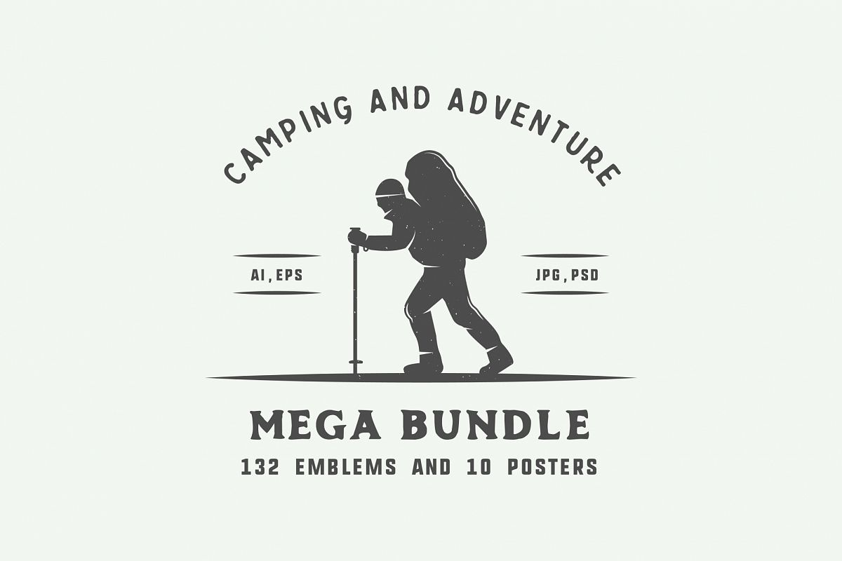 Camping and Adventure Emblems example image 1