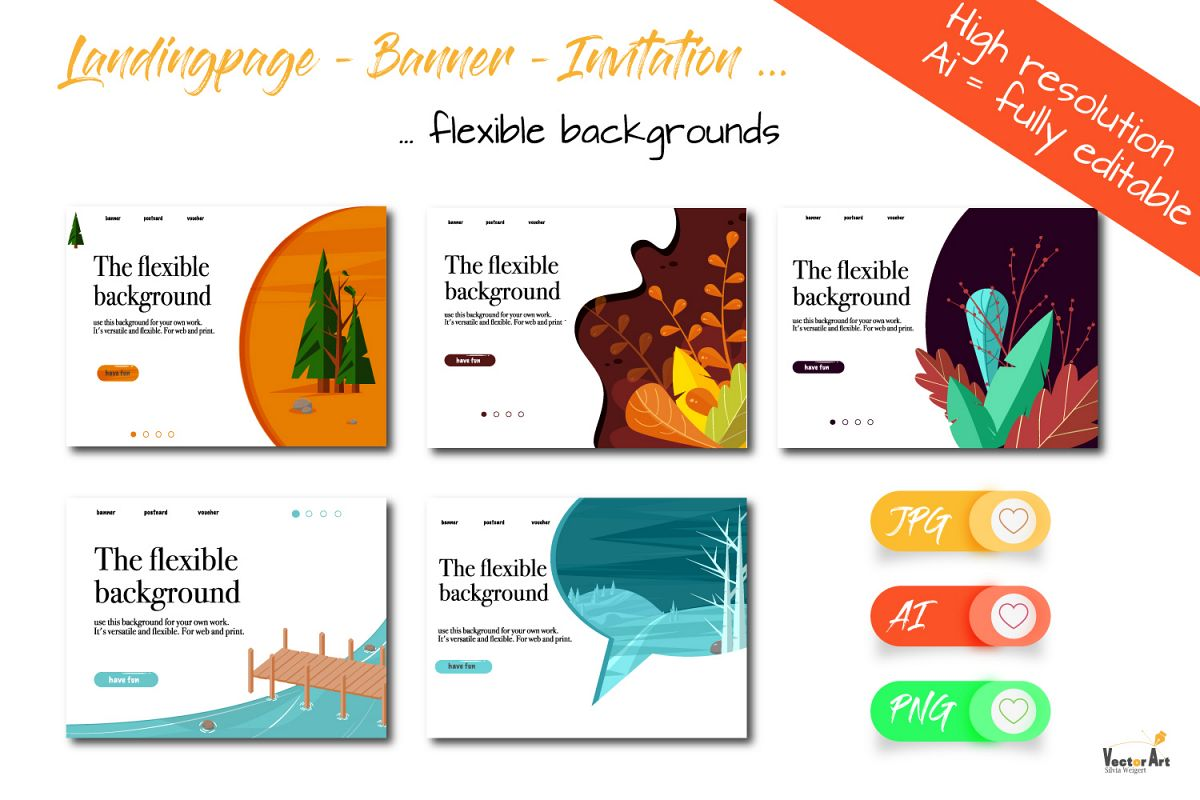 Template Bundle - Landing Page - Banner -Invitation example image 1