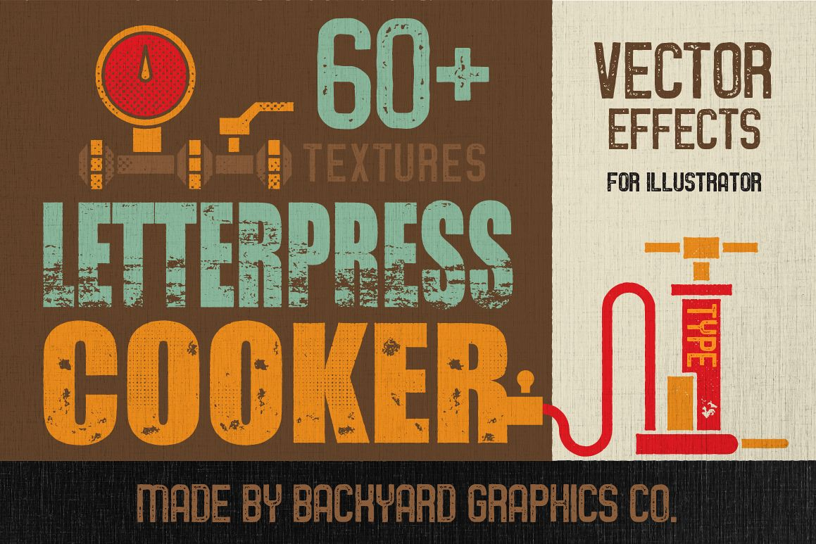 Letterpress Vector Textures example image 1