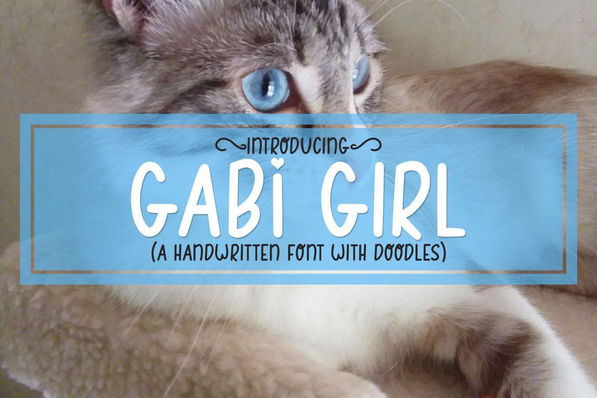 Gabi Girl - A Handwritten Font w/ Doodles by Digi Web Studio example image 1