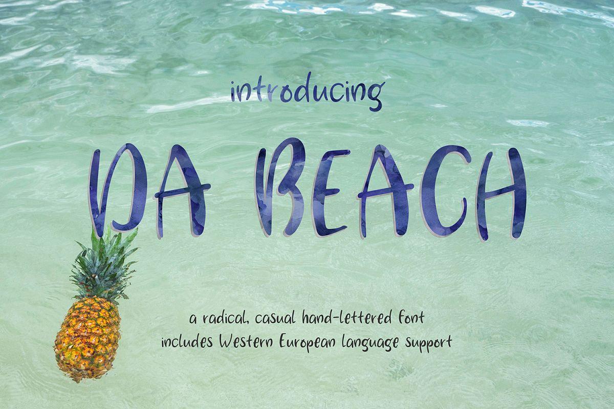 Da Beach Casual Sans Font example image 1