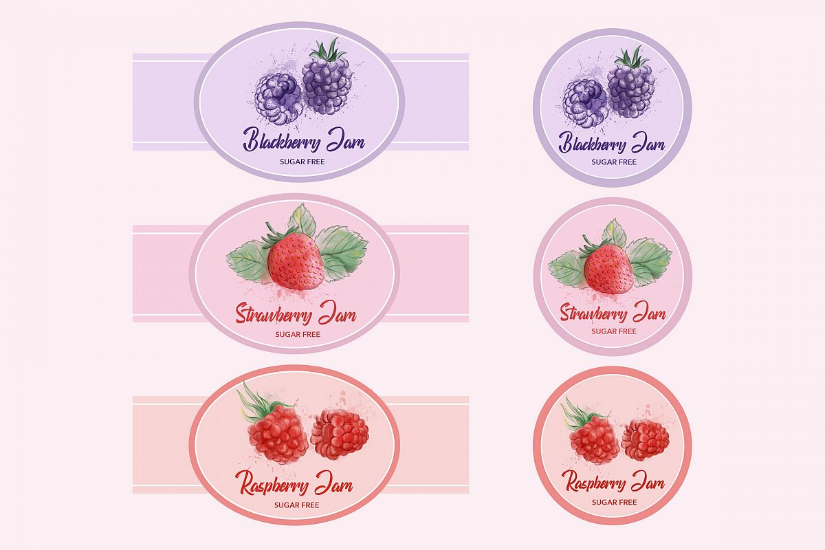 Berry Labels Badges example image 1