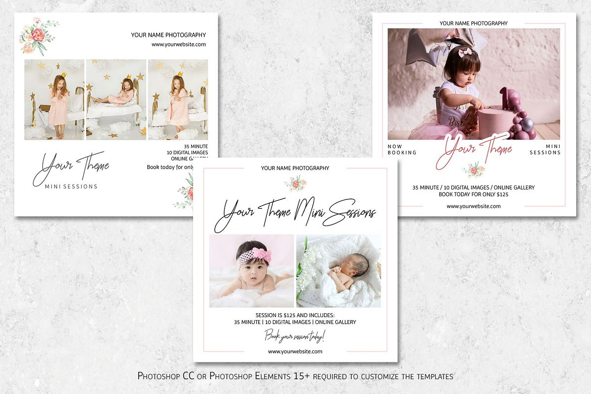 Mini Sessions Marketing Templates example image 1