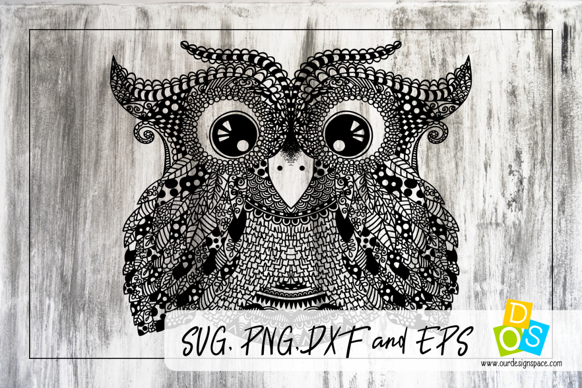 Owl Doodle Detailed Cut Svg And Png File
