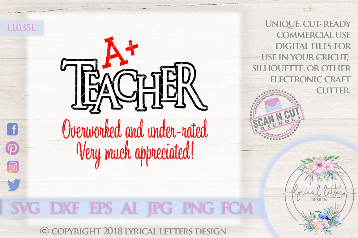 A Teacher SVG Cut File LL035F example image 1