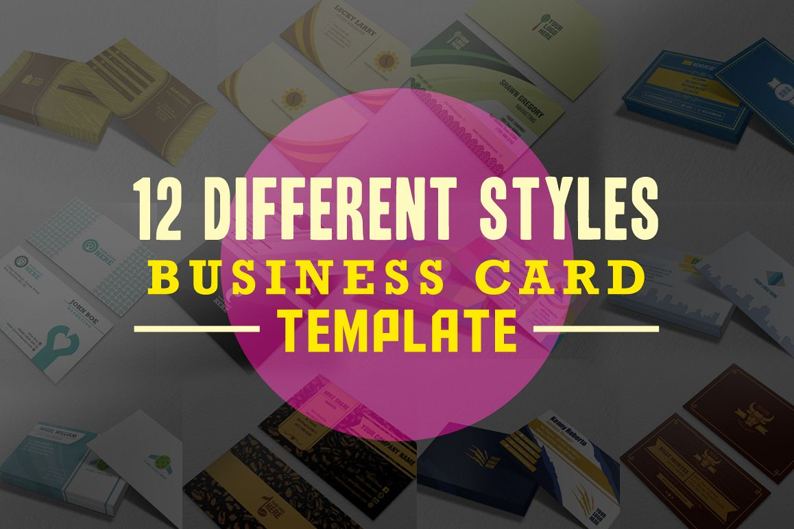 12 Different styles Business Card example image 1