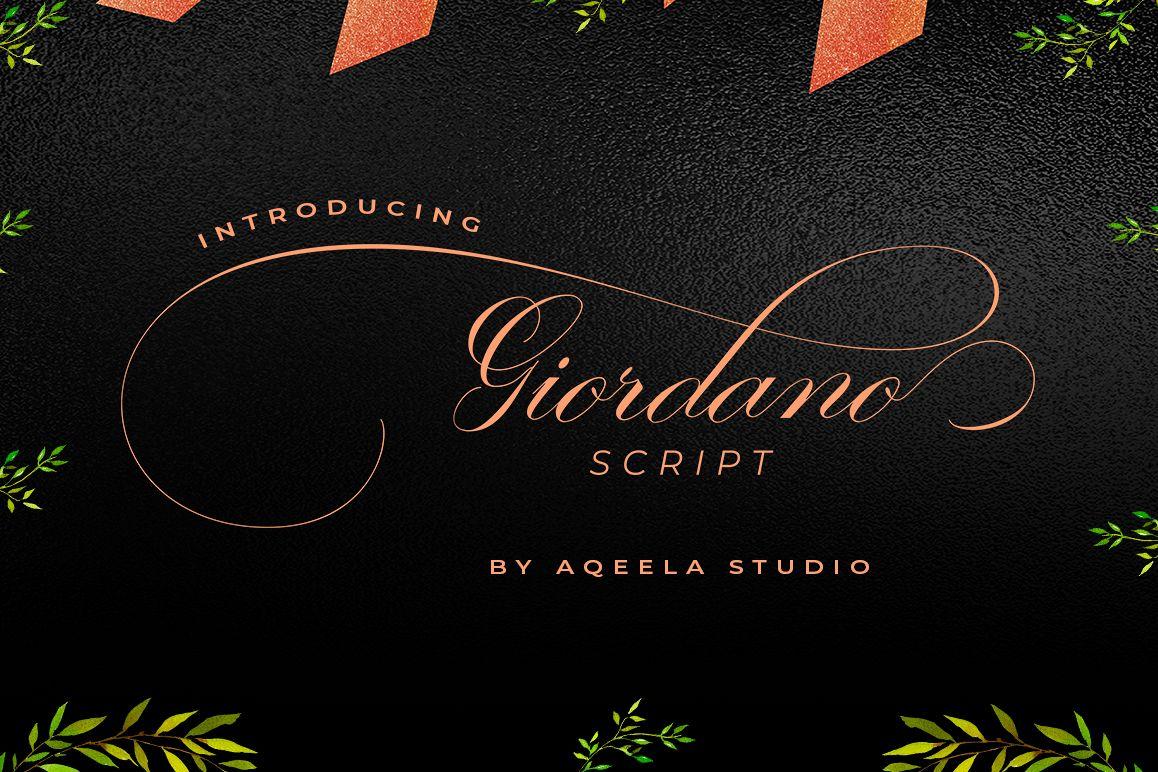Giordano Script example image 1