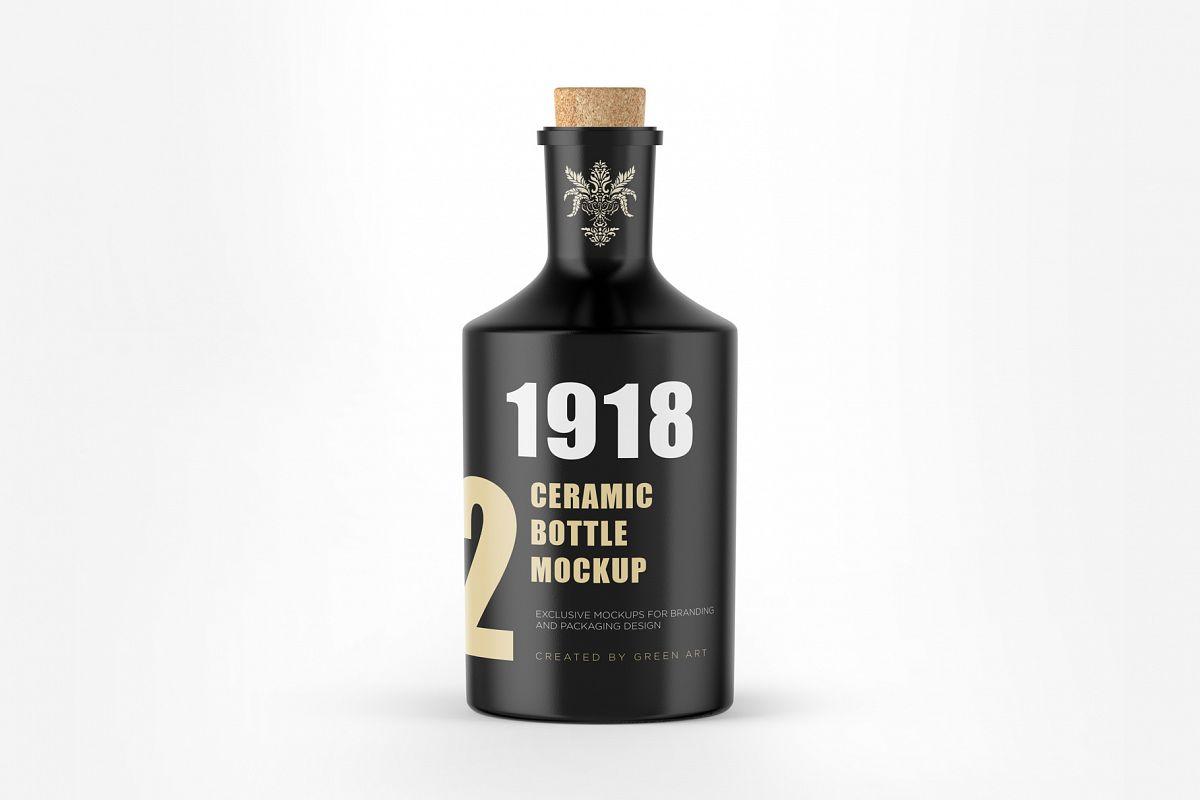 Ceramic Bottle Mockup example image 1