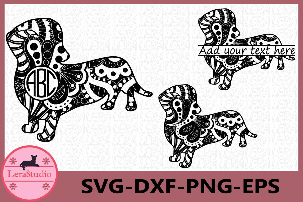 Dog Svg, Dog Zentangle SVG, Animals Svg, Dog Monogram svg example image 1