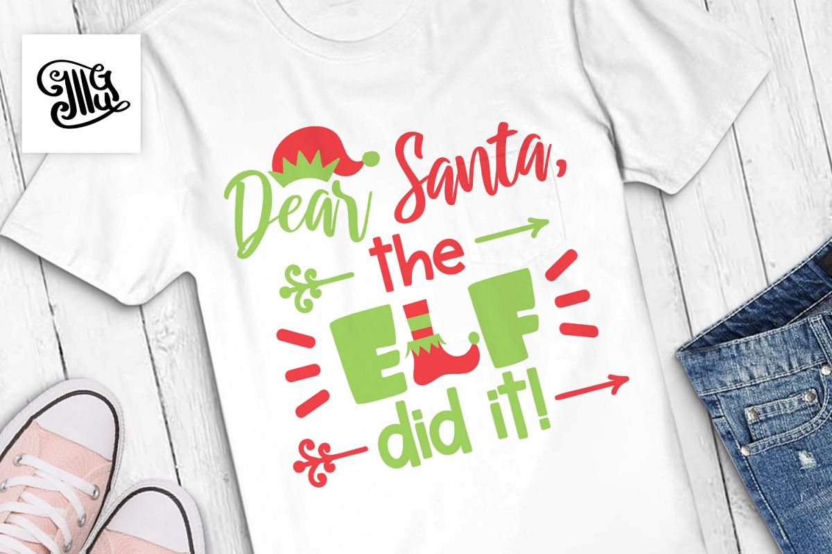 Dear Santa, the elf did it! - Christmas kids example image 1