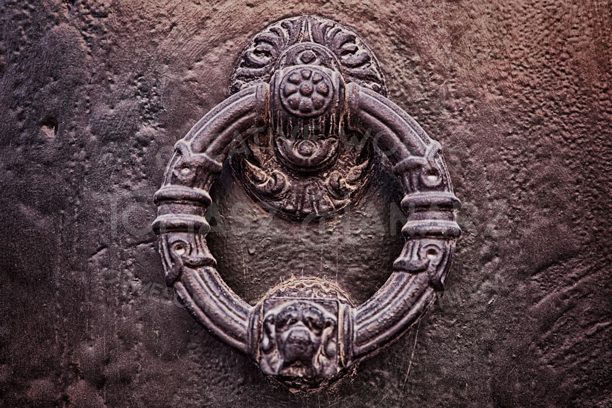 Ornamental Iron Door Ring - Photo example image 1