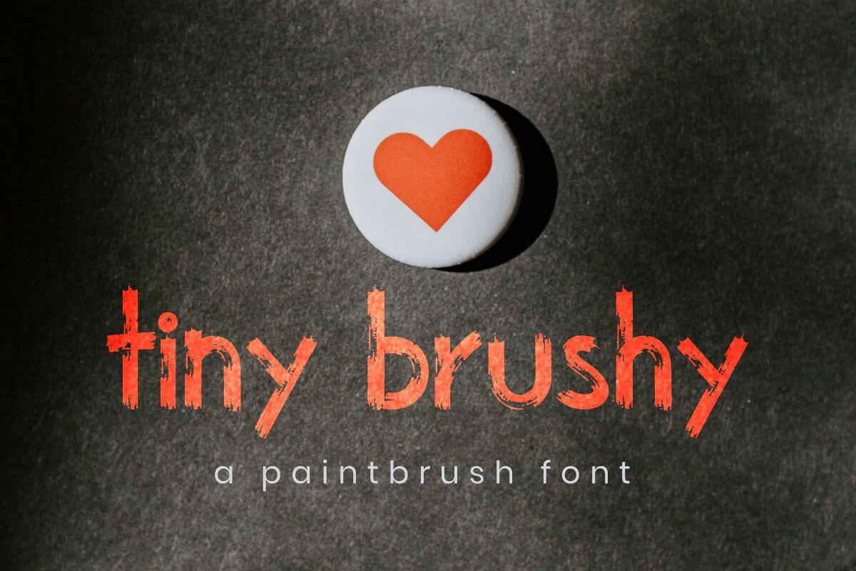 The Tiny brushy Font Digital Font example image 1
