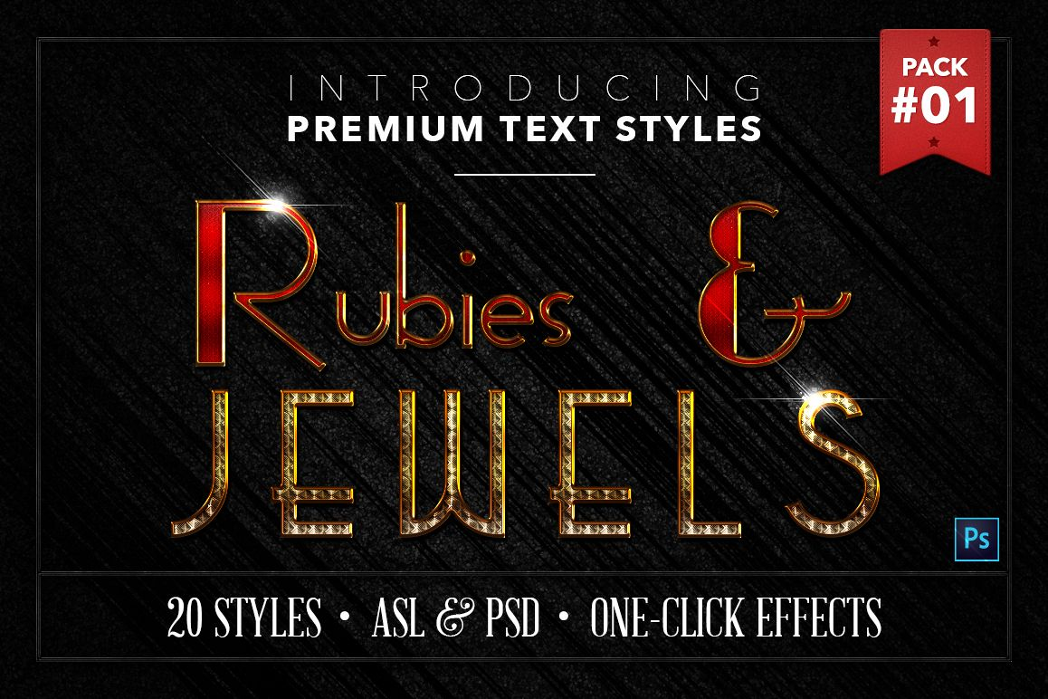 Rubies & Jewels #1 - 20 Text Styles example image 1
