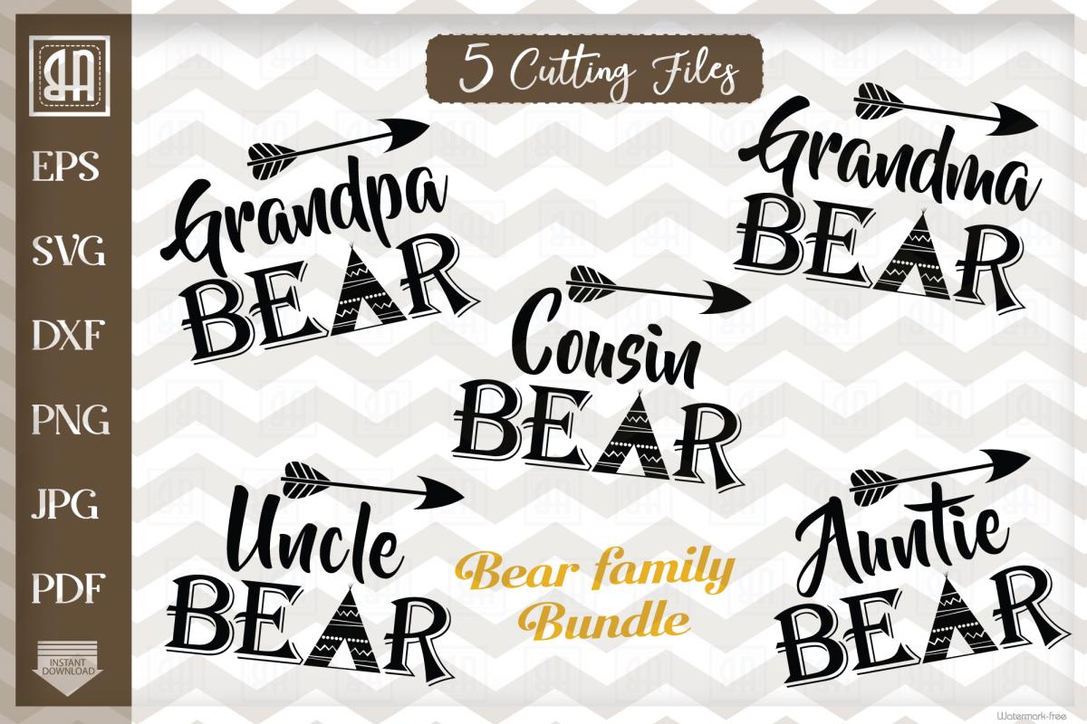 Bear family svg, Bear family bundle SVG, Bear svg example image 1