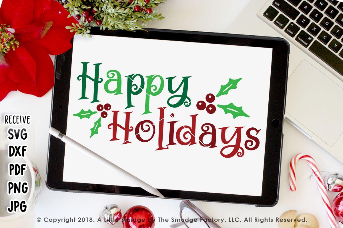 Happy Holidays SVG example image 1