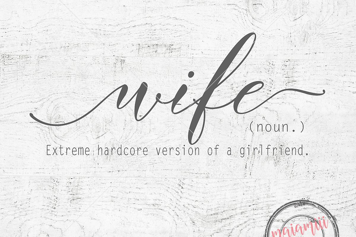 Wife Svg Wife Definition Svg Funny Wall Art Quote Wall Art Family
