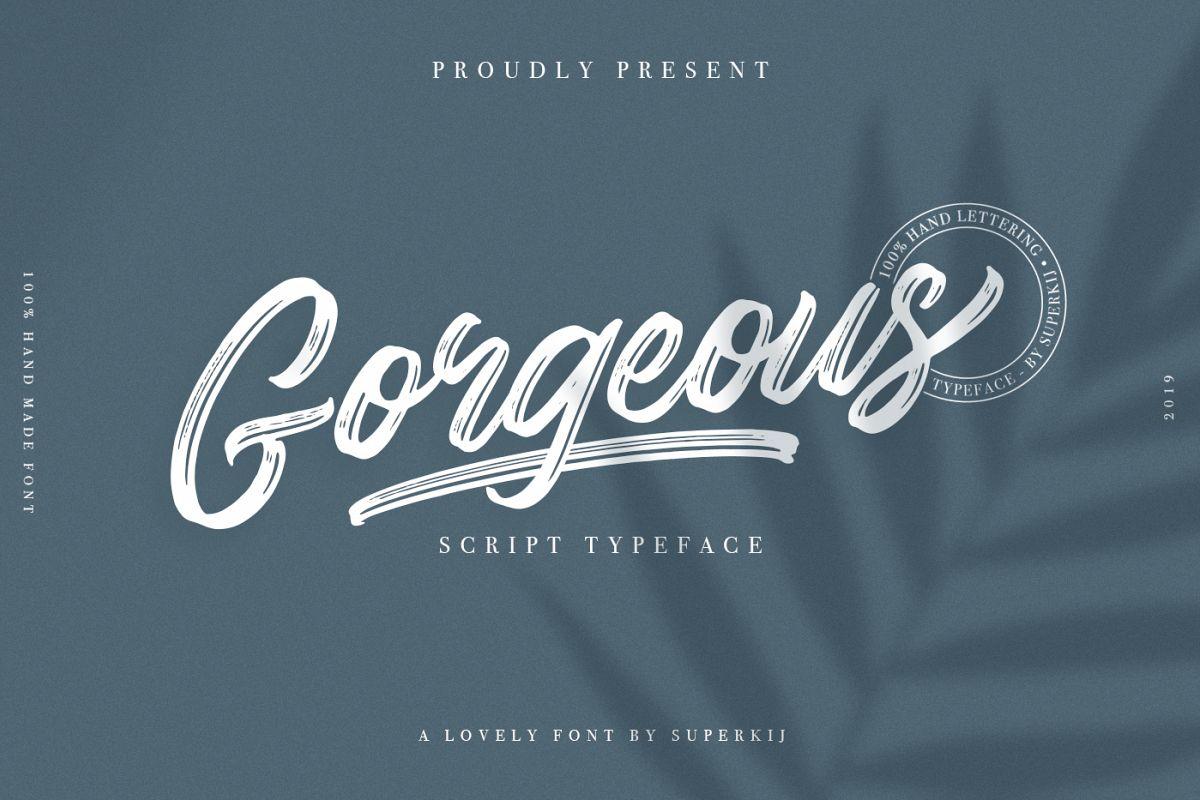 Gorgeous - Script Typeface example image 1