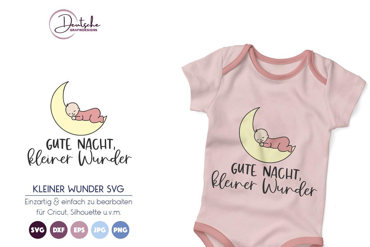 Baby SVG | Gute Nacht, kleiner Wunder example image 1
