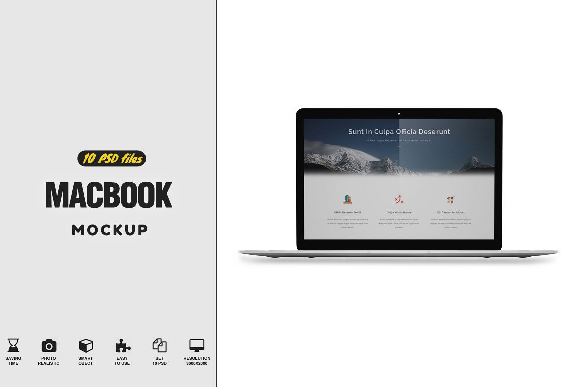 MacBook MockUp example image 1