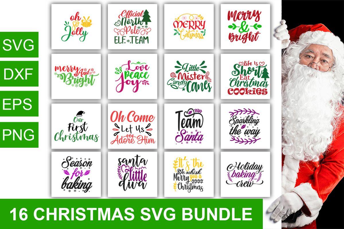 16 Christmas svg Bundle pack_1 example image 1