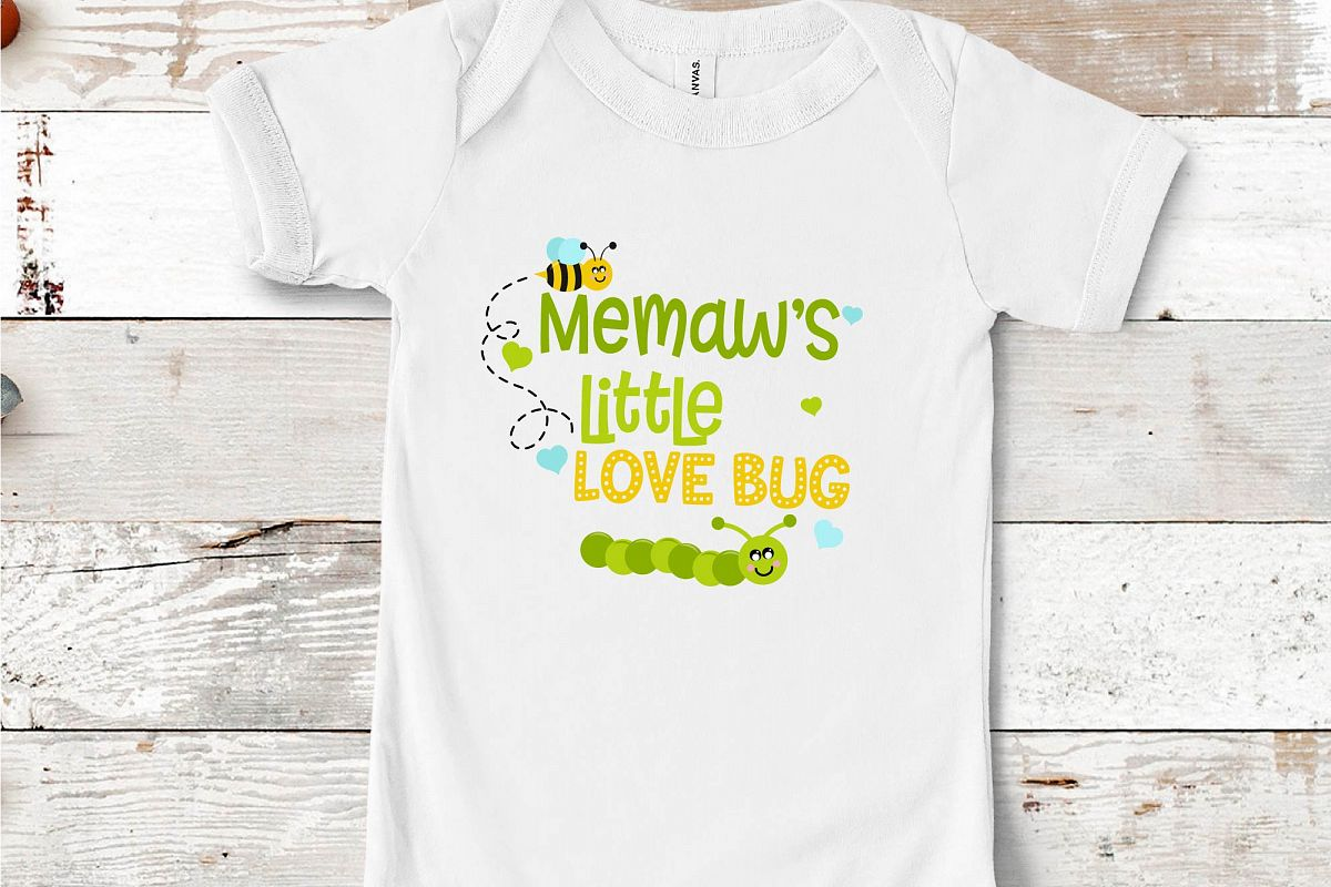 Valentine's Day SVG Little Love Bug, Memaw's Love Bug SVG example image 1