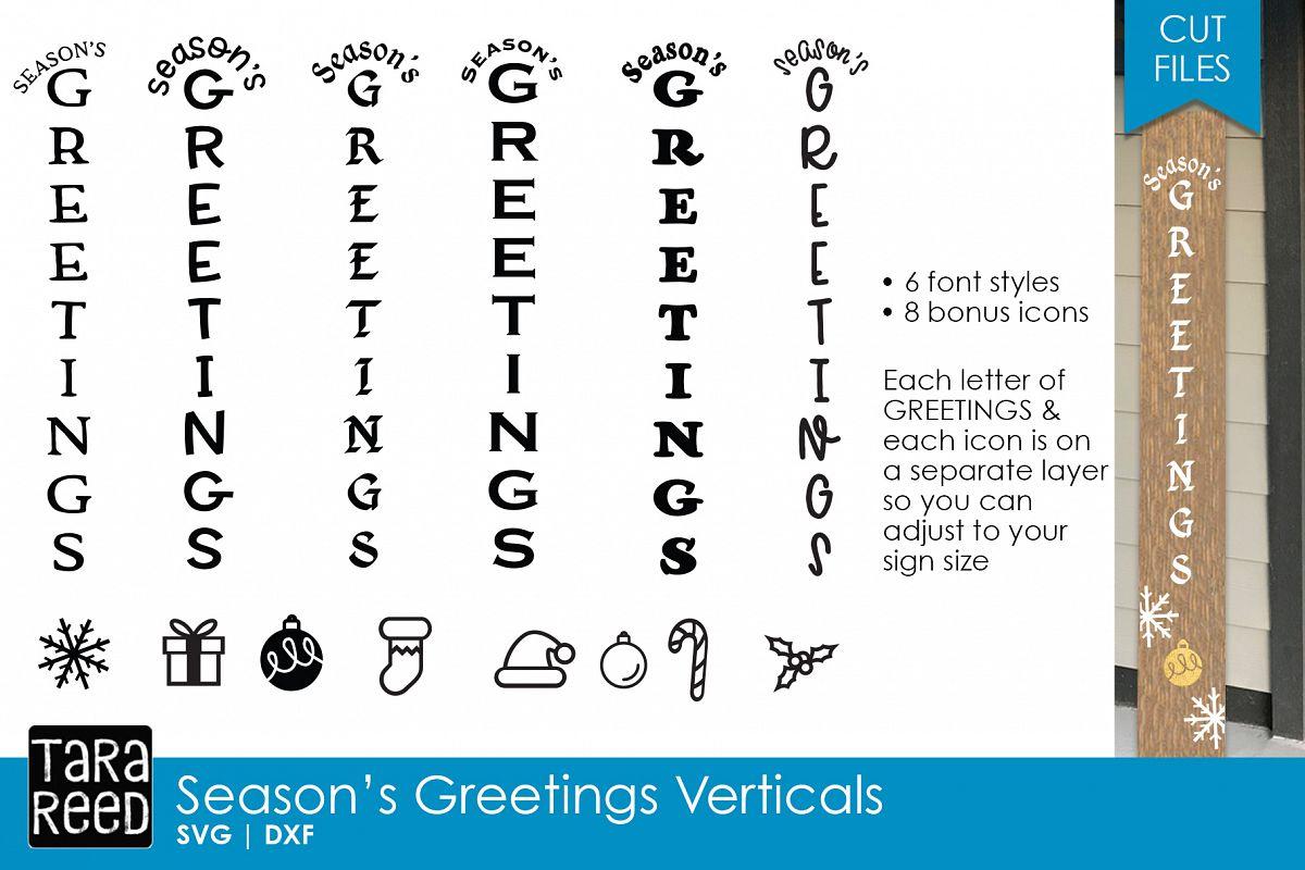 Season\'s Greetings Vertical Sign Bundle