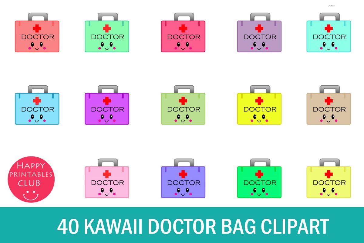 40 Kawaii Doctor Bag Clipart- Doctor Bag Transparent Images example image 1