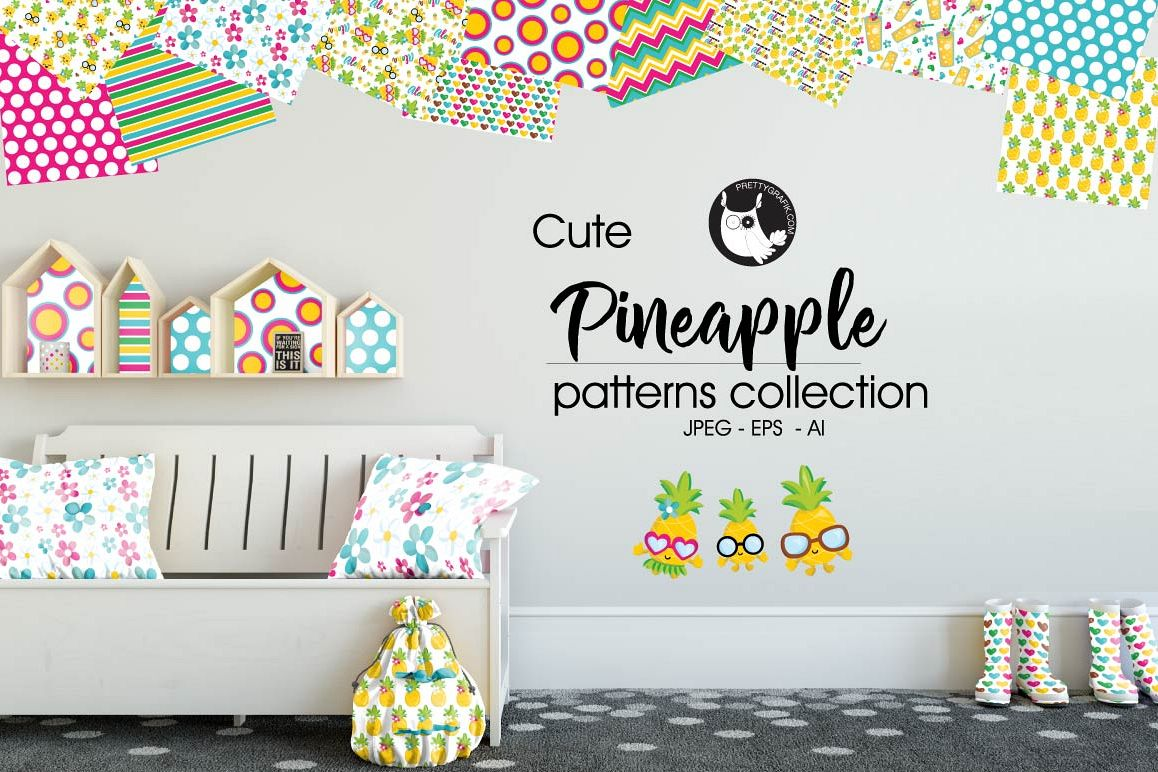 PINEAPPLE, digital papers example image 1