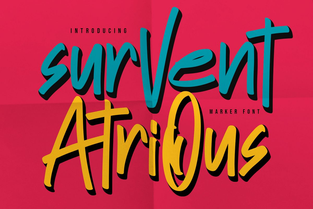 Survent Atrious Marker Font example image 1