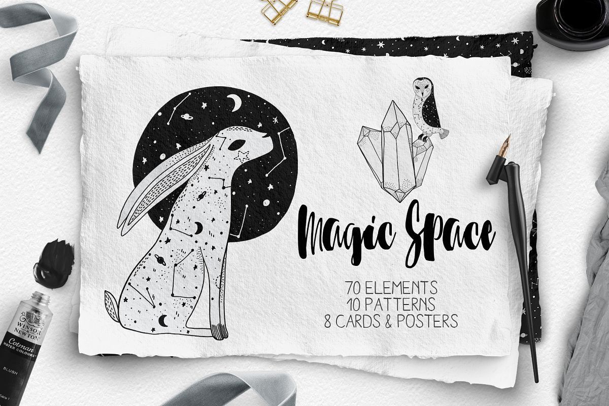Magic Space. Black and White example image 1