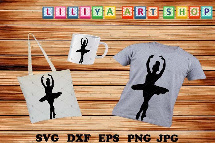 Afro Ballerina silhouettes svg, Ballerina svg example image 1